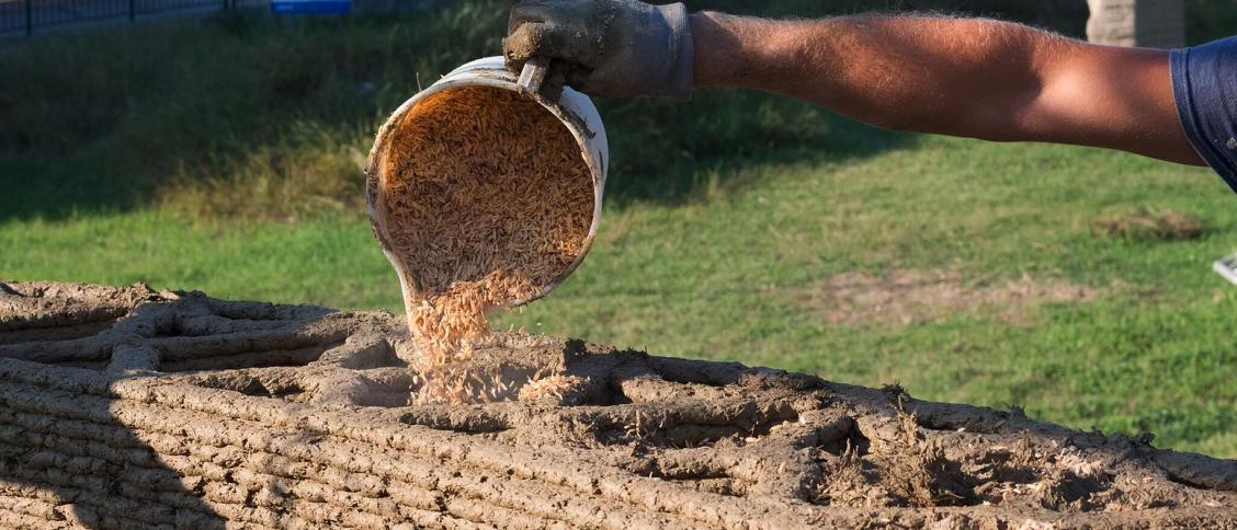 Reis als nachhaltiges Baumaterial